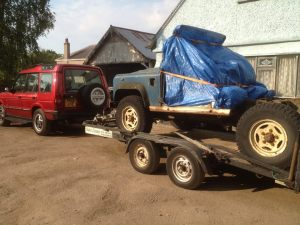 Landy-on-trailer